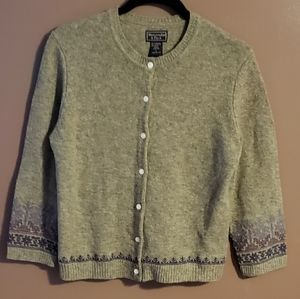 Abercrombie & Fitch Lambswool Cardigan Sweater L